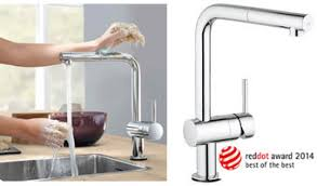 grohe minta kitchen faucet grohe grohe minta touch wins reddot award press releases 2014