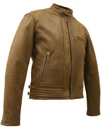 armored leather motorcycle jacket vintage racer leather jacket with hillside usa leather u0027s