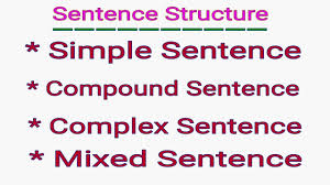 identify sentence pattern english grammar simple compound complex mixed sentence sentence structure in