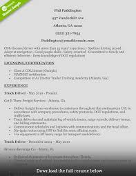 how to write a perfect truck driver resume with examples