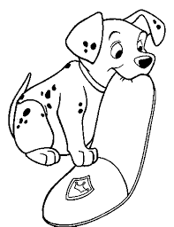 pudgy bunny u0027s 101 dalmations coloring pages