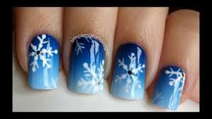 snowflake nail art tutorial snow nails snowflake nail art