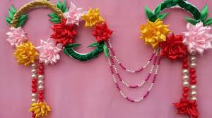 wow amazing wall door hanging with satin ribbon flowers diy