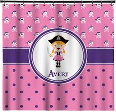 Pink Gingham Shower Curtain Pink Pirate Shower Curtain Personalized Baby N Toddler