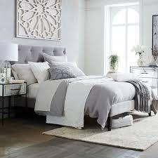 gorgeous bed with grey headboard dark gray headboard design ideas