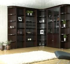 corner bookcase target inside corner bookcase plans bookshelf with doors