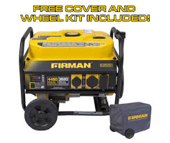 shop firman p03501 gas powered 4 450 watt portable generator at