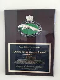 jaguar dealership jaguar clubs of north america dealer of the year jaguar colorado