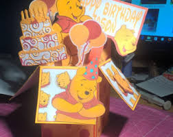 pooh bear birthday etsy