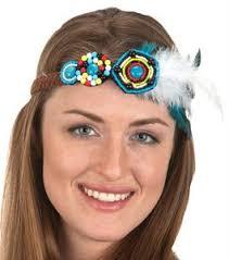 hippy headband beaded hippie headband candy apple costumes 60s and 70s