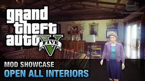 gta 5 pc open all interiors mod showcase youtube