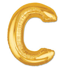 balloon letters letter c gold foil balloon 40 inch inflated balloon shop nyc