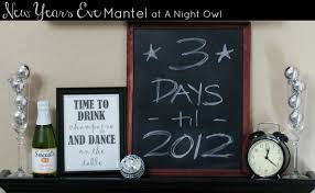 New Years Eve Mantel Decor by The Best Of A Night Owl Blog