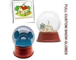 photo snow globe magnets set of 3