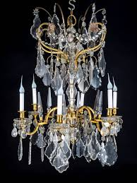 Crystal Chandelier Fine Antique Baccarat Louis Xvi Style Gilt Bronze And Cut Crystal