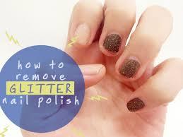 how to remove glitter nail polish in one swipe female