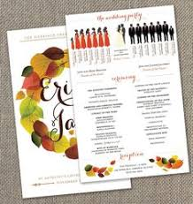 fall wedding programs bookmark wedding program by thebirdandthebeard on etsy 30 00