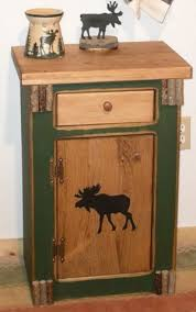 Rustic Pine Nightstand Furniture Rustic Pine U2014 Woodland Moose Night Stand End Table