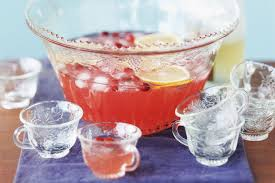 punch bowl easy chagne punch recipe with pomegranate