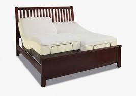dark brown wooden adjustable bed frame with headboard and double