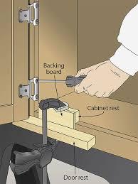Cabinet Door Hinge Jig How To Hang Cabinet Doors I24 About Remodel Marvelous Interior