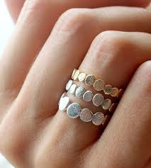 silver rings set images Gold silver pebble ring set jewelry rings colby june jpg