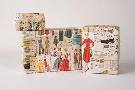 vintage gift wrap retro dress pattern gift wrap 12 sheets of wrap