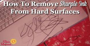 how to get permanent marker off table how to remove sharpie ink from hard surfaces