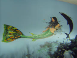 murals and paintings artisan art services mermaid mural for scuba center