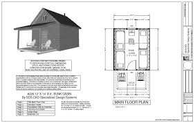 cabin plan 226 12 x 14 x 8 bunk cabin plan free house plan reviews