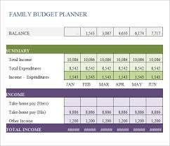 Family Budget Excel Template Family Budget Template 9 Free Sles Exles Format