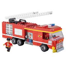 cogo fire truck fire fighting truck building blocks toys