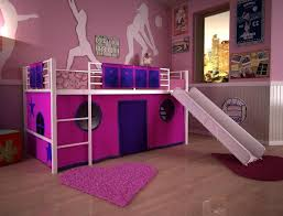 teen girls loft with desk and sofa interior design singular photo