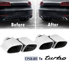 porsche chrome porsche macan turbo look exhaust muffler tips