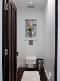 Modern Powder Room Vanity Powder Room Vanity And Rectangle White Sink On Double Black Wooden