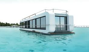 floating house contemporary energy efficient two story