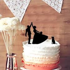 high five cake topper unique wedding cake topper and groom high five silhouette