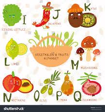 vector illustration fruit vegetables a b stock vector 152249714