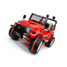 red toy jeep xtreme 12v ride on off road 4x4 two seater jeep in red xtreme toys