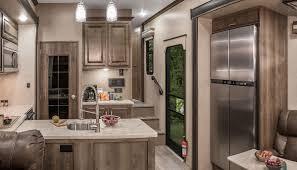 kz kitchen cabinet venom v4111tk luxury fifth wheel toy hauler k z rv