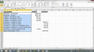 Quickbooks Chart Of Accounts Excel Template Import Journal Entry Into Quickbooks From Excel Iif File