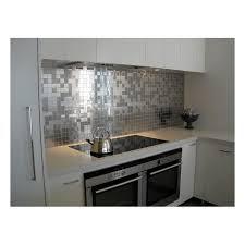 mosaique pour credence cuisine credence cuisine aluminium brosse unique carrelage inox et mosaique