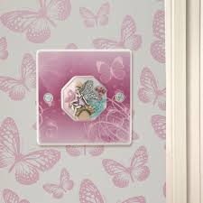 s lilac butterflies and fairy bedroom light switch or dimmer