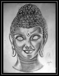 buddha drawing by aninda dey