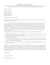 ideas collection sample cover letter for hr administrator with