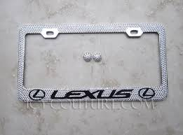 lexus plate frame lexus swarovski custom license plate frame whats your colors