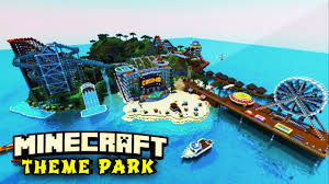 Mincraft Maps Minecraft Maps Island Theme Park Rollercoasters Waterslides