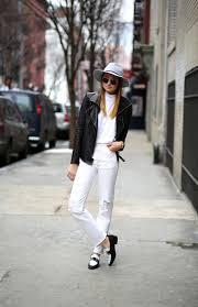 biker jacket vest trend fashionistas wearing the biker jacket ootd magazine