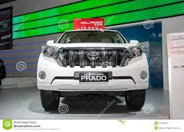 toyota international white toyota land cruiser prado car editorial stock photo image