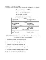identifying adverbs iv adverb worksheets